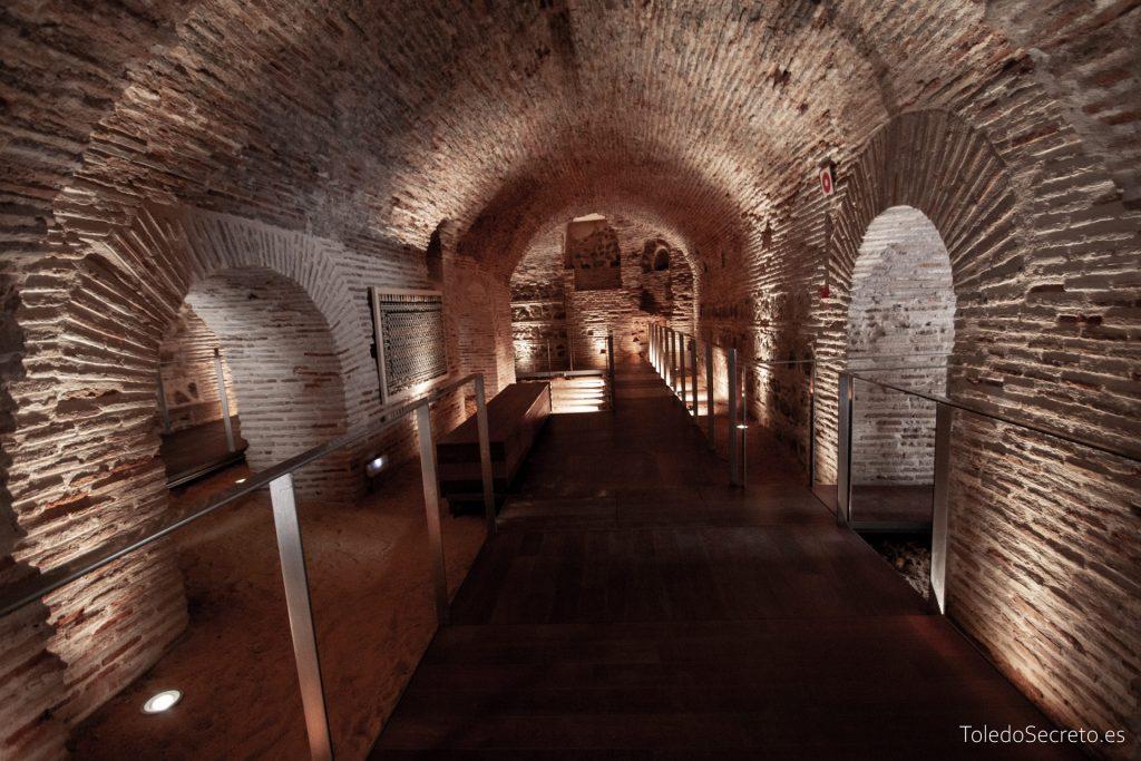 Zona visitable de los sótanos del Museo del Greco.