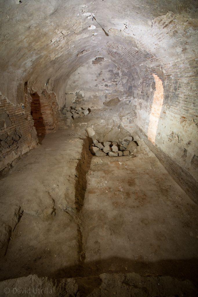 Otra sala conservada en los sótanos bajo el Museo del Greco de Toledo