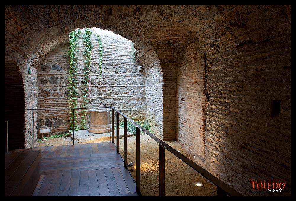 Zona accesible al público de los sótanos del Museo del Greco.