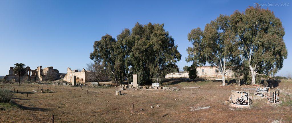 Panorámica de los restos del Palacio de la Sisla realizada por David Utrilla para Toledo Secreto.