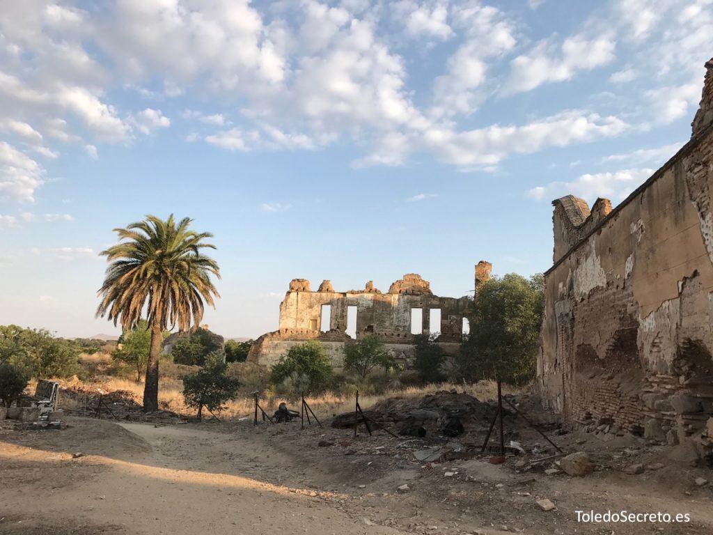 El estado actual en ruina del Palacio de la Sisla de Toledo