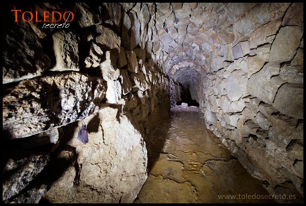 Antigua conducción del acueducto de Toledo, en la zona de la Pozuela
