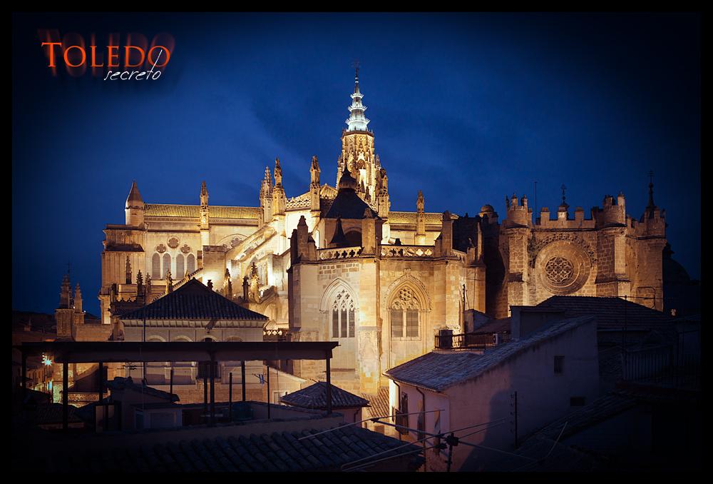 Catedral de Toledo, al atardecer de invierno