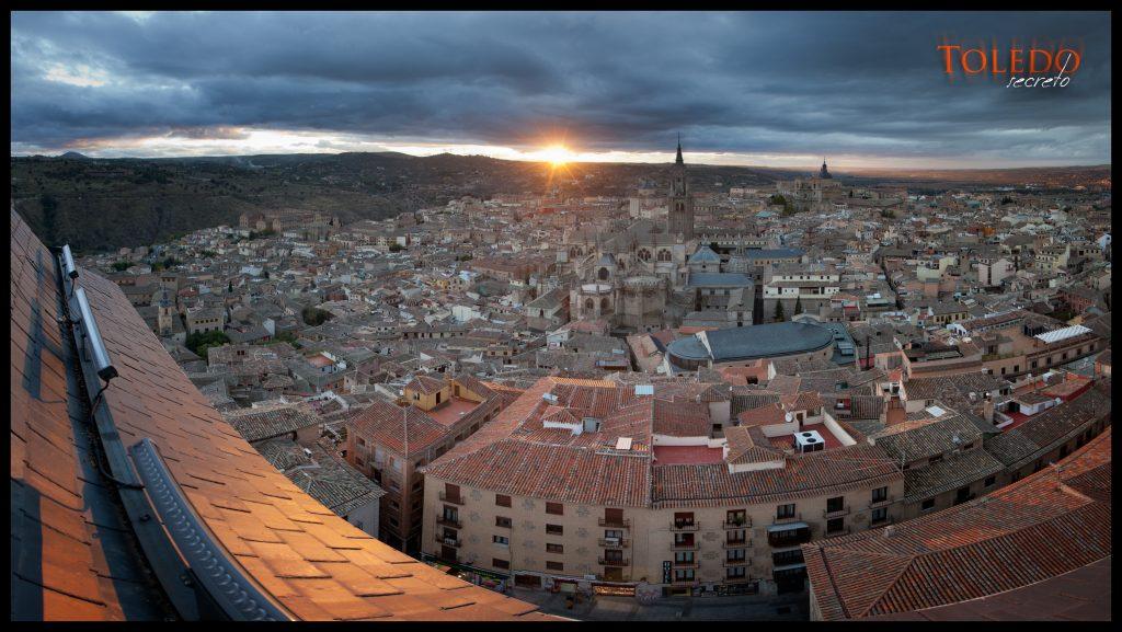 Puesta de sol desde el Alcázar. Una de las mejores fotografías del Toledo Secreto.