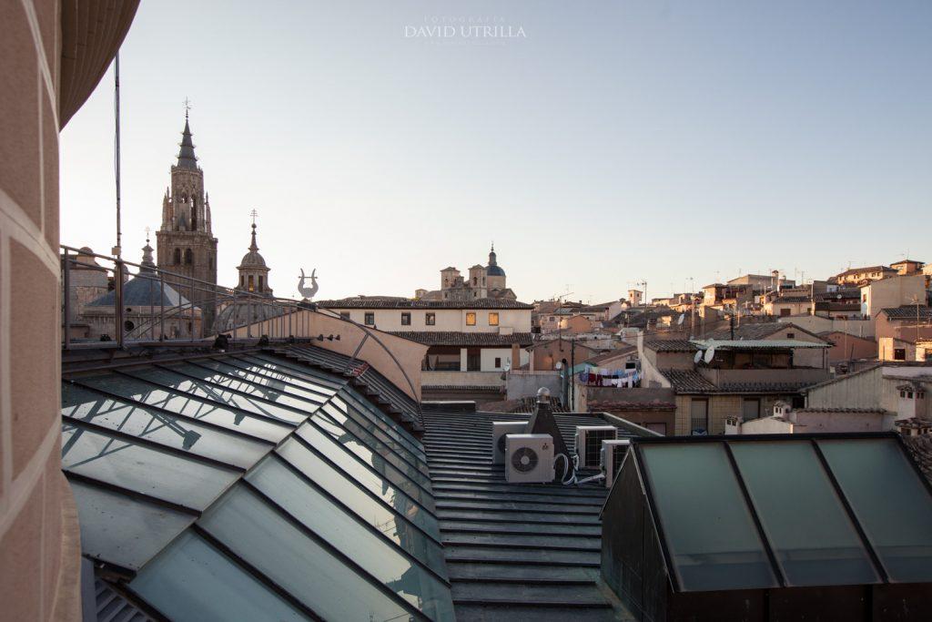 Vista de Toledo desde lo alto del Teatro de Rojas