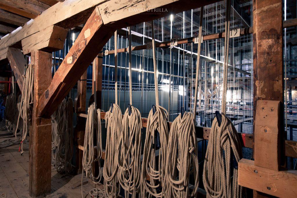 Cuerdas de contrapesos del Teatro de Rojas de Toledo